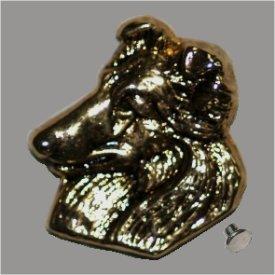 Zierniete Collie-Kopf 18mm altgold