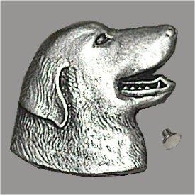 Zierniete Retriver-Kopf 20mm altplatin