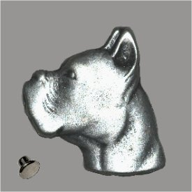 Zierniete Boxer-Kopf 35mm altsilber