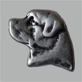 Zierniete Sennerhund 22mm altsilber