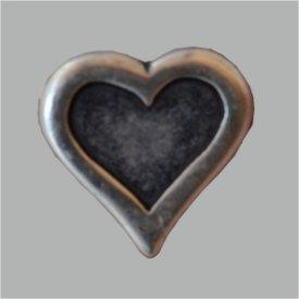 Zierniete Herz 17mm altsilber