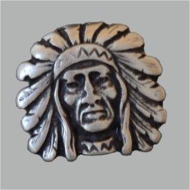 Zierniete Indianer 23mm altsilber
