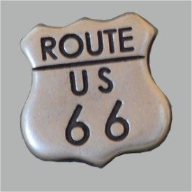 Zierniete Route 66, 20mm altsilber