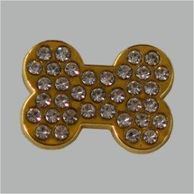 Zierniete Hundeknochen 19X14mm gold cc