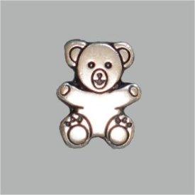 Zierniete Teddy 15mm altsilber