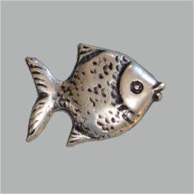 Zierniete Fisch 26,5mm altsilber
