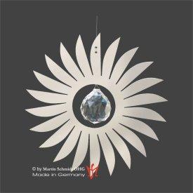Sonne Edelstahl 100mm mit Kristallkugel