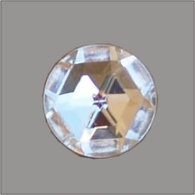 Splint mit Stein im Barockrand 12mm gold kristall