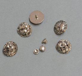 Zierniete Zierniete Lövenkopf 15mm altplatin