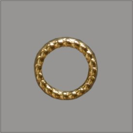 Splint genoppter Ring 8mm gold