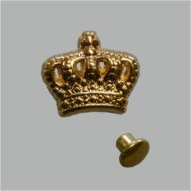 Zierniete Krone 13mm platin oder gold