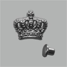 Zierniete Krone 13mm platin