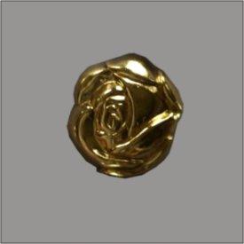 Splint Rosenblüte 14mm gold