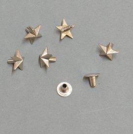 Zierniete Stern 10mm platin