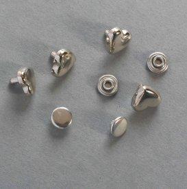 Zierniete Herz 9,5mm platin