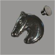 Zierniete Pferdekopf 18mm platin