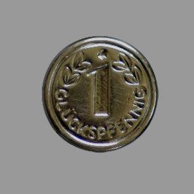 Splint Glückspfennig 15mm platin