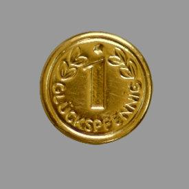 Splint Glückspfennig 15mm gold