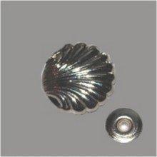Zierniete Muschel 12mm platin