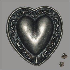 Zierniete Herz 45mm altsilber