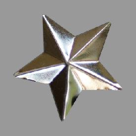 Splint 5-strahliger Stern plastisch 30mm gold