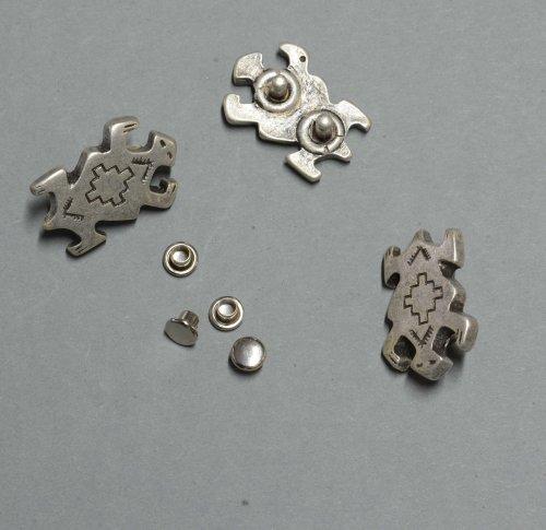 Zierniete Glückskröte 25x17,5mm altsilber