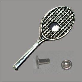 Zierniete Tennisschläger 35x12mm platin