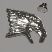 Zierniete Adlerkopf 19mm platin