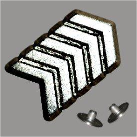 Zierniete Pfeil 14,5x14,5mm altplatin