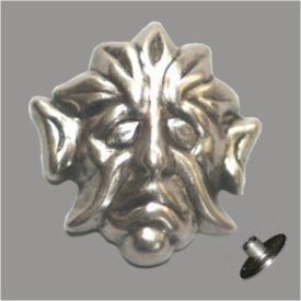 Zierniete Maske 20x19mm altplatin