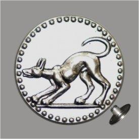 Zierniete Hund 21mm altplatin
