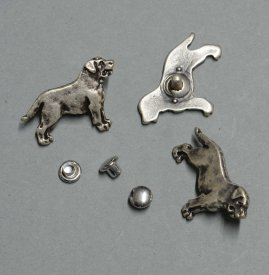 Zierniete Rottweiler 27mm