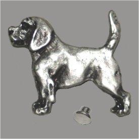 Zierniete Labrador 27mm altsilber