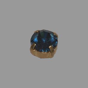 gold Stein aquamarine